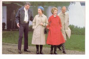 Queen Elizabeth II, Prince Philip, President and Nancy Reagan, 1983 Photo Tim...