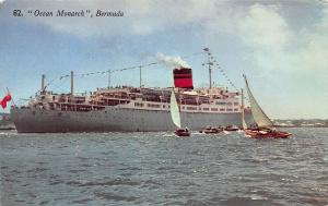 Ocean Monarch, Bermuda, Early Postcard, Used