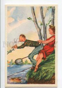 275992 FISHING Fisherman Lovers old COMIC colorful PC
