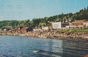 White Rock British Columbia Ocean Beach Giant Sign 1960s Postcard