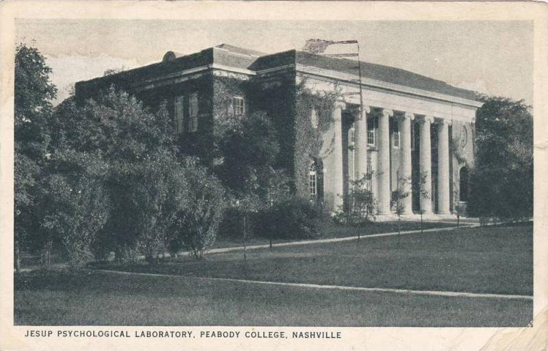 Jesup Psychological Laboratory, Peabody College, Nashville, Tennessee, PU-1929