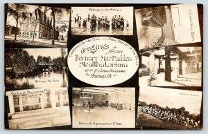 Chicago IL~Bernarr MacFadden Healthatorium~42nd & Grand~Sun Bath~Gym~1911 RPPC