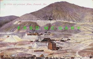 1908 Mount Oddie Nevada Postcard: Principal Mines
