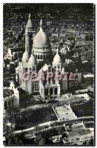 Postcard Modern And Plane on Paris Driver operaleur T Hanrard The Basilica of...