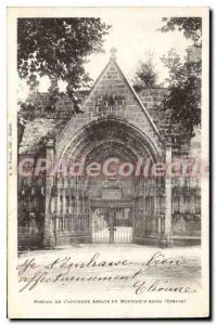 Postcard Old Gate Of The Abbey From Moutier D'Ahun