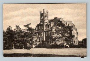 Lamoni IA Graceland College Administration Building Campus Vintage Iowa Postcard
