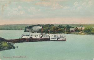 Steamer at the Narrows on Washademoak Lake - New Brunswick, Canada - pm 1908