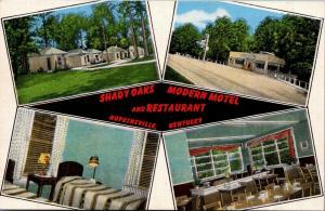 Hopkinsville Kentucky~Shady Oaks Modern Motel & Restaurant~Room~1940s Linen PC