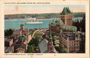 View from Price Building, Quebec Canada Vintage Postcard M17