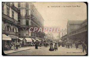 Postcard Old Toulouse Le Marche Victor Hugo