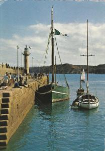 Sailboats in Harbor, Le Phare, Binic, Cotes d'Amor, France 1969