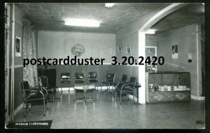2420 - ST. RAYMOND Quebec 1950s Manoir Interior. Real Photo Postcard