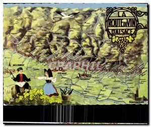 Old Postcard The Wine Route of Alsace