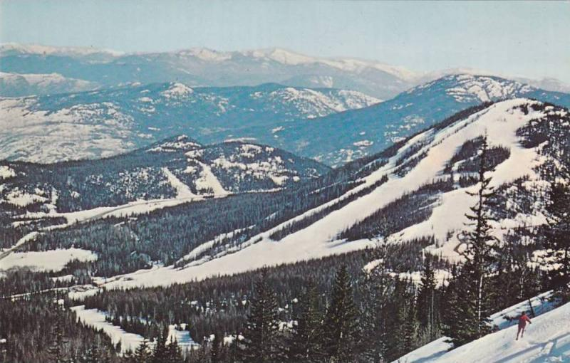 View from Granite Mountain Chairlift Top Terminal,  Red Mountain Ski Area,  R...