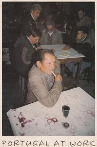 Portugal Mens Work Working Social Club Scrabble Algarve Postcard