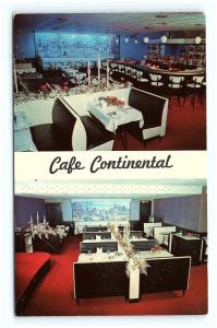 Postcard PA Temple Cafe Continental Temple Inn Multiview Interior G13