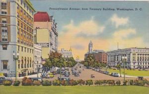 Washington D C Pennsylvania Avenue From Treasury Building