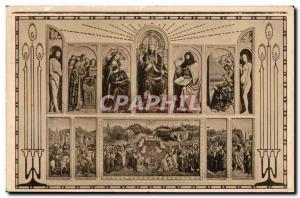 Old Postcard Ghent Church St Bavo Table The triumph of & # 39agneau by e Hube...