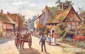 Woolhampton Village Berkshire UK Bridgeman artist Tuck Oilette 1910c postcard