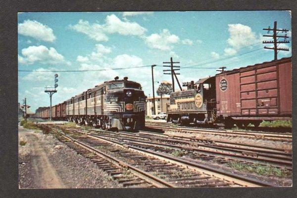 IL New York Central Railroad Train CHICAGO ILLINOIS Postcard Indiana Harbor Belt