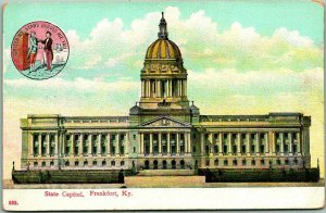 1910s Frankfort, Kentucky Postcard State Capitol Building Front View / Wheelock