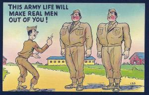 Army life will make real men out of you unused c1950's