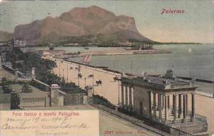 Italy Palermo Foro Italico e monte Pellegrino 1907