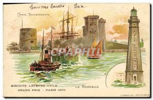 Old Postcard transparent card Lefevre Utile Biscuits prices Grand Paris 1900 ...