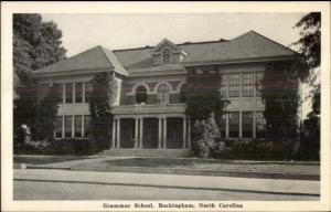 Rockingham NC Grammar School Old Postcard
