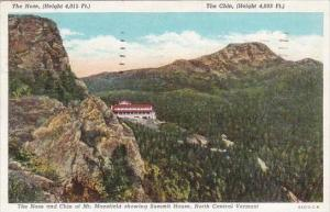 Vermont North Central Vermont The Nose And Chin Of Mount Mansfield Showing Su...