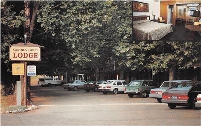 SONORA GOLD LODGE Roadside Hotel Tuolumne County, CA c1990s? Unused Postcard