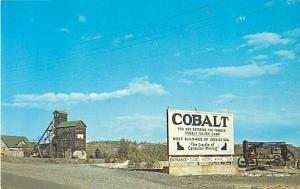 Highway Entrance Sign at Cobalt Ontario ON Canada
