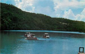Cassville Missouri~Bass Lake Roaring River State Park~Pedalos Pedal Boats~1955