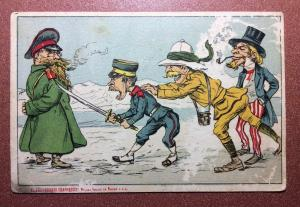 Ultra Rare! Russia 1904 United Kingdom and US pushing Japan into war with Russia