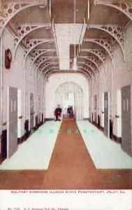 1908 Joliet IL PC: Solitary Corridor, 'PENETENTIARY' Error