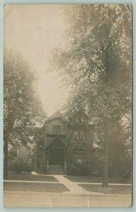 Detroit MI Fine Stoop~Home of Pop of Ladice Patrick~Temple Theatre RPPC 1908