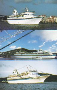 Royal Caribbean Cruise lines ships , M/S Viking [Curacao], M/S Song of Norway...