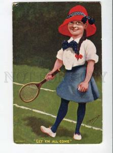 264875 COMIC Girl TENNIS raquet by KINSELLA Vintage #695 PC