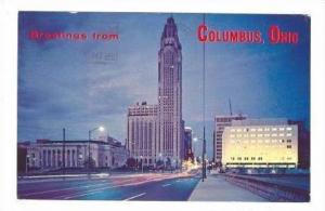 Twilight View Of Columbus Skyline, Columbus, Ohio, PU-1957