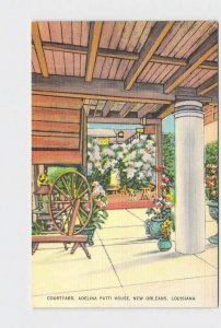 PPC POSTCARD LOUISIANA NEW ORLEANS ADELINA PATTI HOUSE COURTYARD