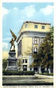 Jasper Monument and Masonic Temple Savannah GA Unused