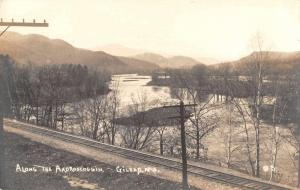 Gilead Maine Along the Androscoggin Real Photo Antique Postcard J73077
