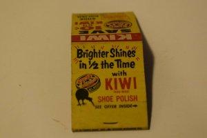 Save 10 cents on Kiwi Shoe Polish Advertising 20 Strike Matchbook Cover