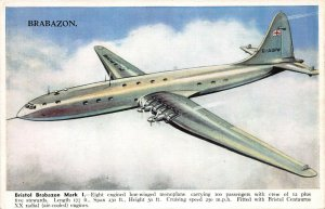 Bristol Brabazon Mark I, Eight Engined Monoplane, Circa 1940's Postcard, Unused