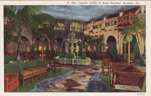 HERSHEY, Pennsylvania, 1900-1910's; The Colorful Lobby Of Hotel Hershey