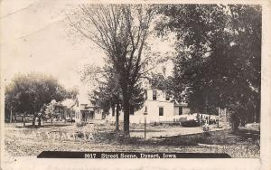 Dysart Iowa~Residential Street Scene~Nice House~Laundry Line~Dirt Road~1910 RPPC