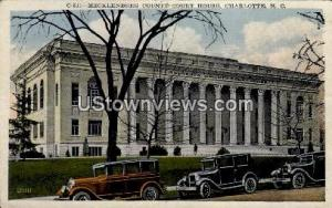 Mecklenburg County Court House Charlotte NC Unused