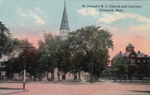Massachusetts Pittsfield St Joseph's Roman Catholic Church and Convent Curteich
