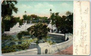 Chicago, Illinois Postcard Lily Pond, UNION PARK w/ 1906 Cancel