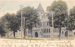 Fremont Ohio~High School~1905 Hand-Colored Rotograph Co Postcard